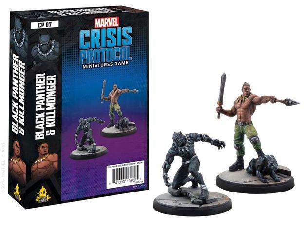 Marvel Crisis Protocol Miniatures Game - Black Panther and Killmonger-Marvel-Game Kings