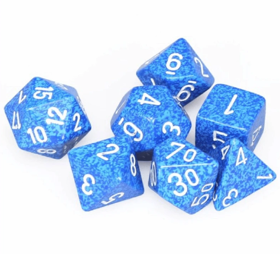 Speckled Polyhedral Dice Set - Speckled Water-Chessex-Game Kings