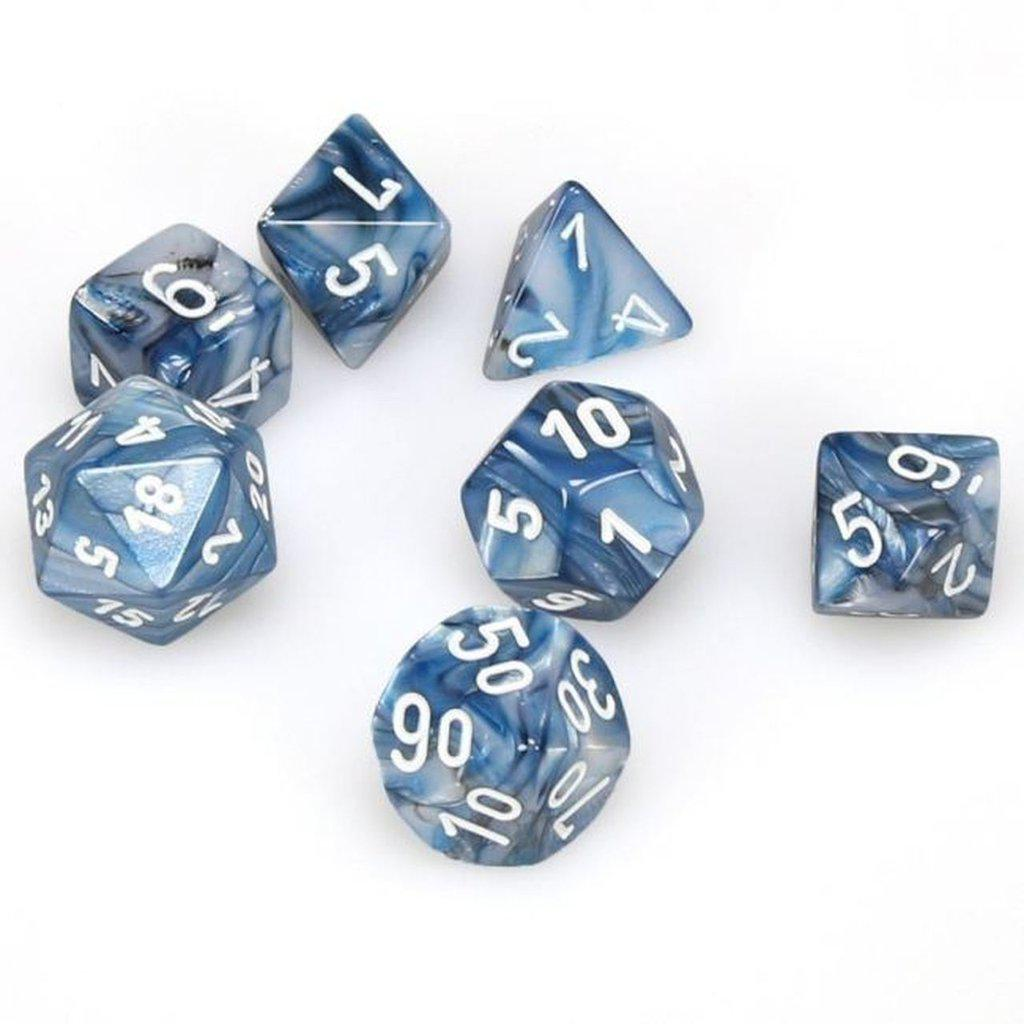 Chessex Dice - Lustrous Slate White-Chessex-Game Kings
