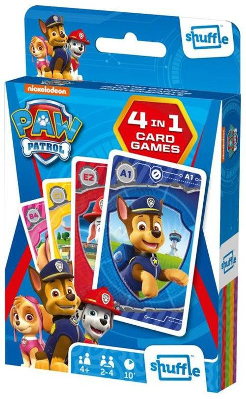 Shuffle 4 in 1 - Paw Patrol-Carta Mundi-Game Kings