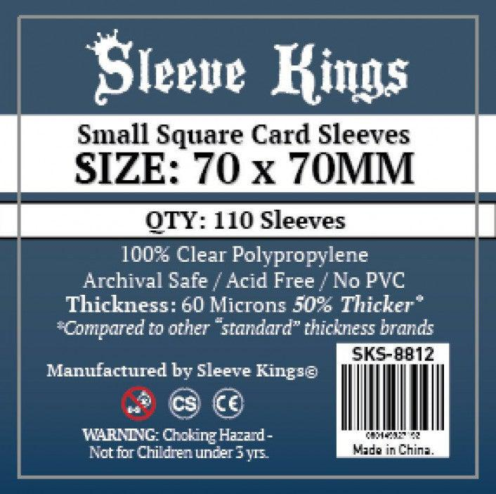 Sleeve Kings Board Game Sleeves Small Square (70mm x 70mm) (110 Sleeves Per Pack)-Sleeve Kings-Game Kings