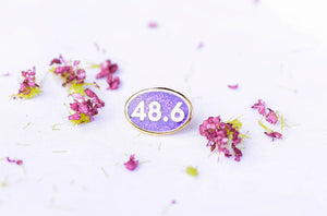 48.6 Gold and Purple BAND BUTTON™