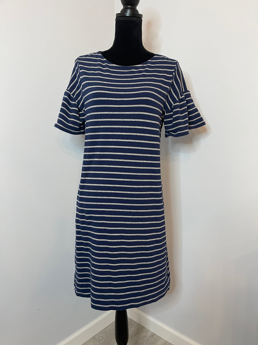 Vineyard Vines Navy Striped Dress (Small)