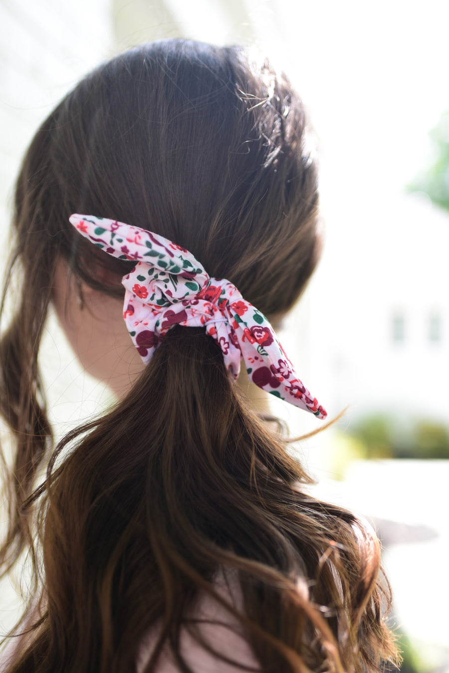 Floral Mickey & Minnie Bow Bunchie