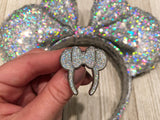 *brand new!* Ready to ship Holographic Silver Glitter Everyday Magic Pin