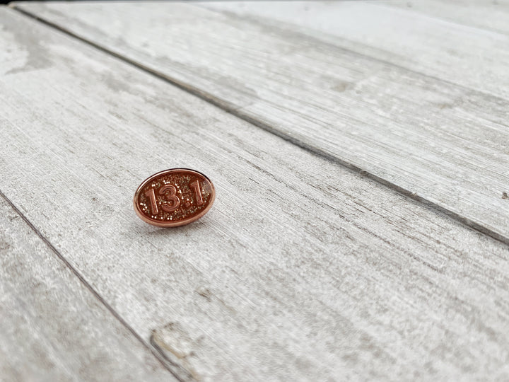13.1 Rose Gold glitter BAND BUTTON™