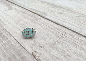 13.1 Sky blue glitter BAND BUTTON™