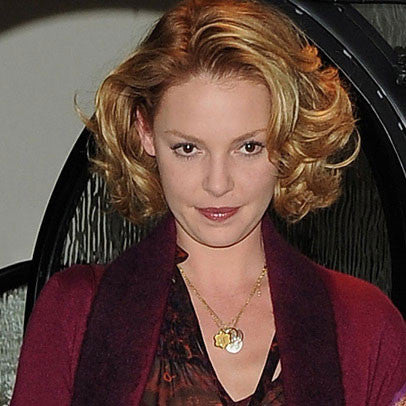 Katherine Heigl - Script Name Charm Necklace