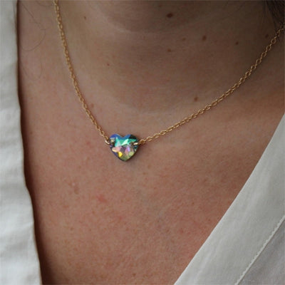 Hearts Alight Necklace - Crystal Rose Gold - IsabelleGraceJewelry