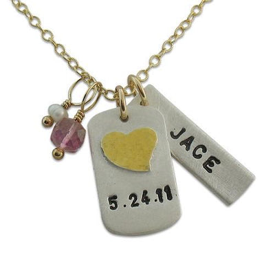 Anniversary Tag Necklace - IsabelleGraceJewelry