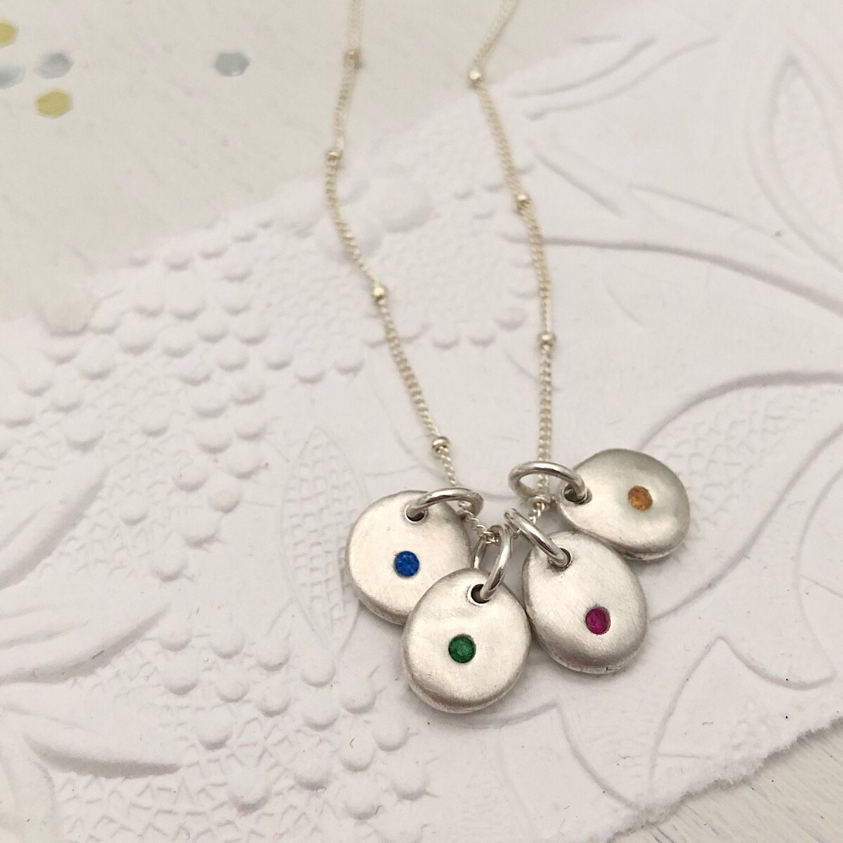 Birthstone Pebbles Necklace
