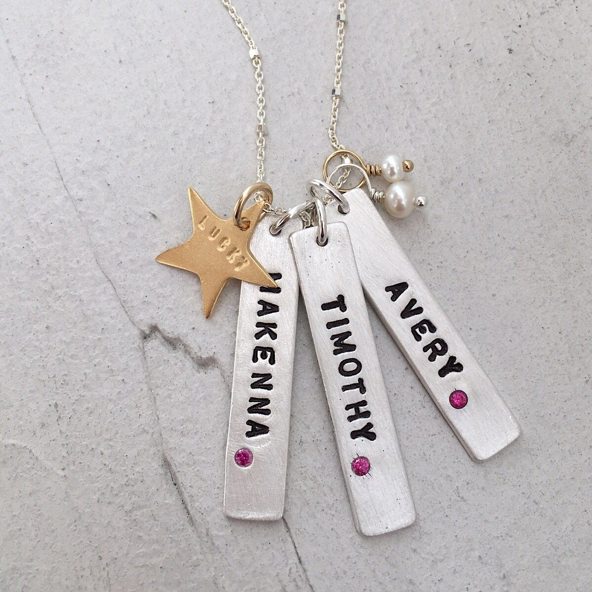 Birthstone Tag Necklace - IsabelleGraceJewelry