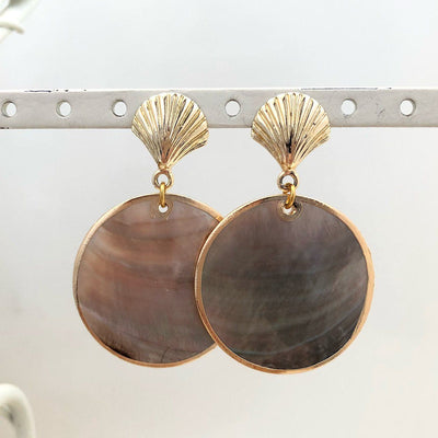 Black Lip Shell Earrings