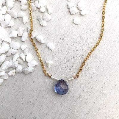 Blue Mystic Gemstone Necklace - IsabelleGraceJewelry