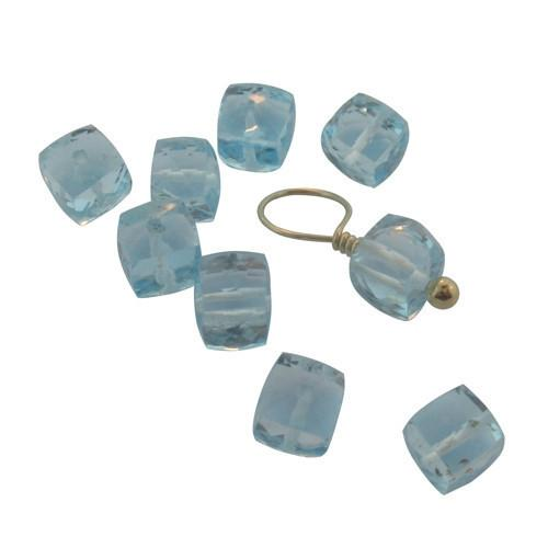 Blue Topaz Cubes (December) - IsabelleGraceJewelry