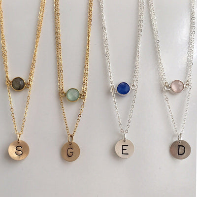 Candy Drop Initial Necklace - IsabelleGraceJewelry