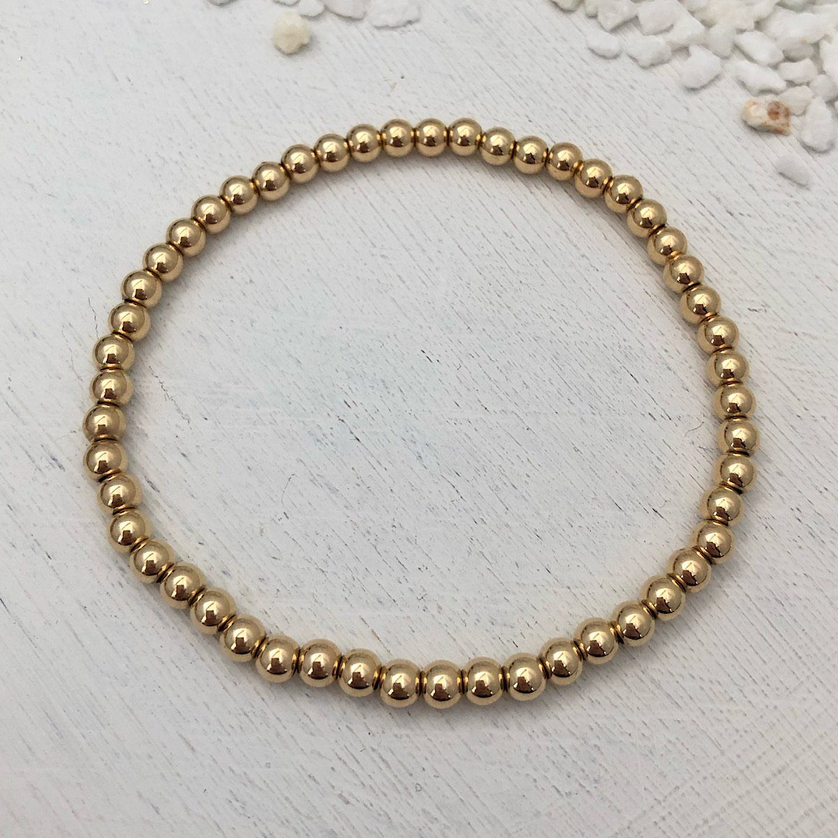Classic 4mm Gold Fill Bead Bracelet
