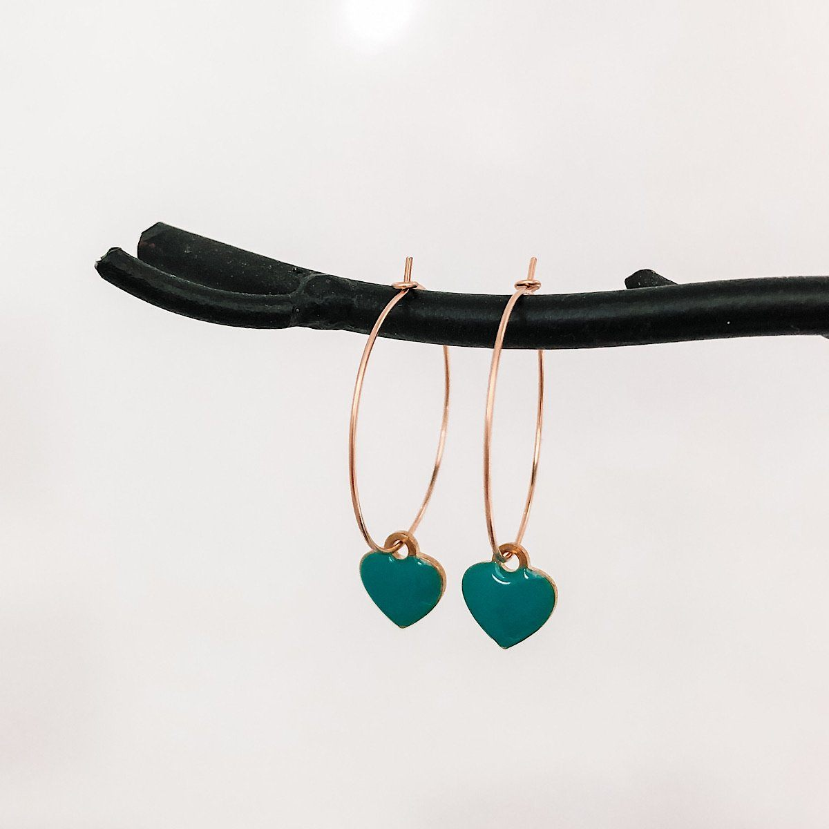 Color Pop Heart Hoops