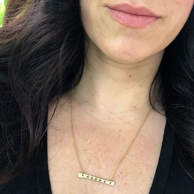 Compass Star Bar Necklace - IsabelleGraceJewelry