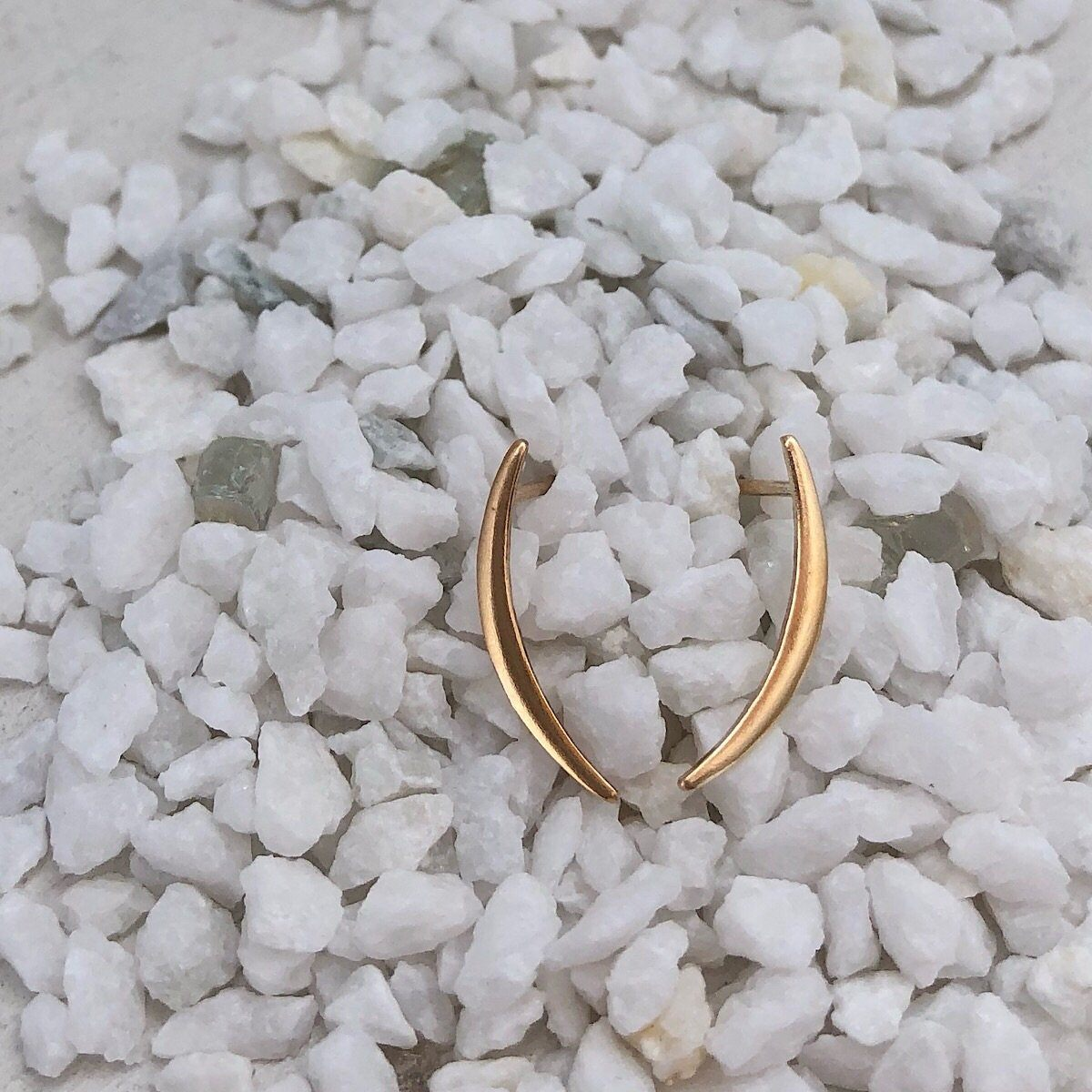 Crescent Moon Stud Earrings - IsabelleGraceJewelry