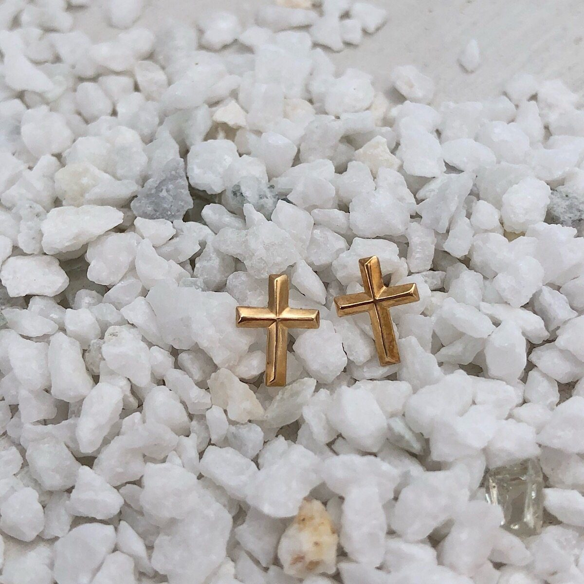 Cross Stud Earrings - IsabelleGraceJewelry
