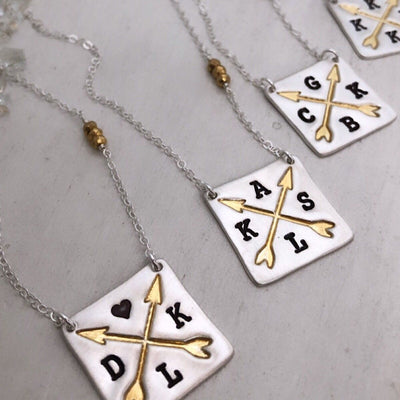 Crossed Arrows Lux Necklace - IsabelleGraceJewelry