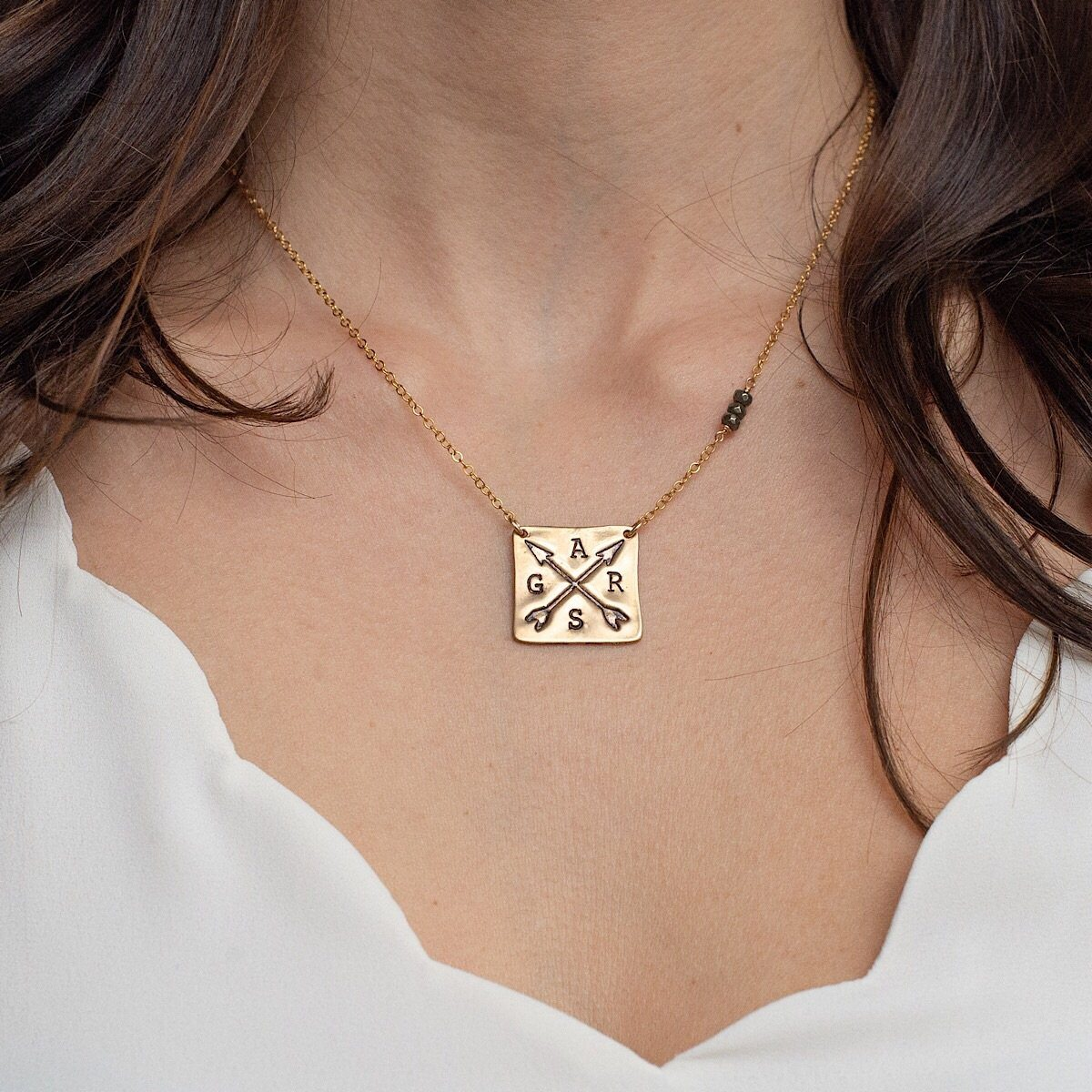 Crossed Arrows Necklace - IsabelleGraceJewelry