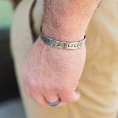 Dad Thin Cuff - IsabelleGraceJewelry