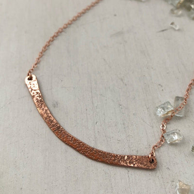 Diamond Dusted Long Bar Necklace - IsabelleGraceJewelry