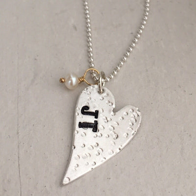 Distressed Heart Necklace - IsabelleGraceJewelry