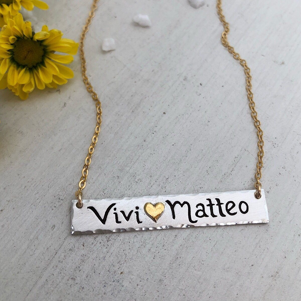 Double Name Bar Necklace - IsabelleGraceJewelry