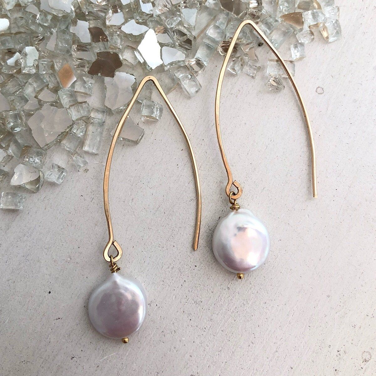 Essential Coin Pearl Earring - IsabelleGraceJewelry