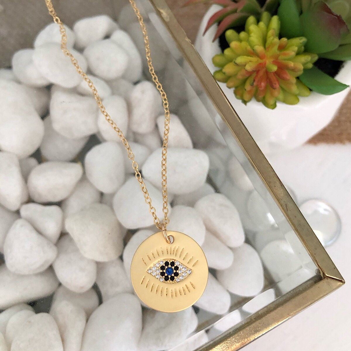 Evil Eye Charm Necklace  - IsabelleGraceJewelry
