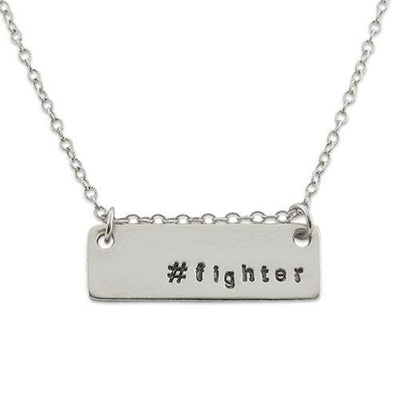 Fighter/Survivor Hashtag Necklace - IsabelleGraceJewelry