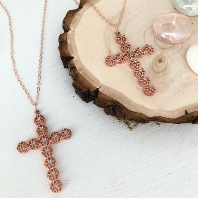 Filigree Cross Necklace