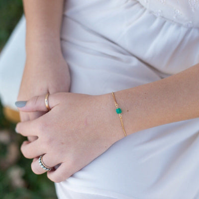 Gemstone Slider Bracelets
