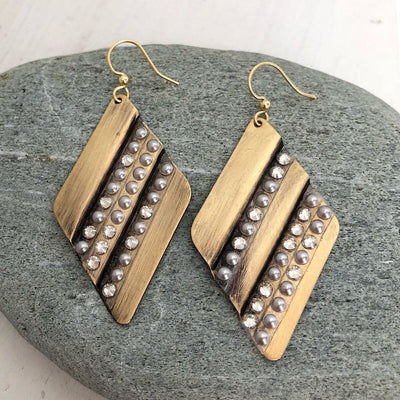 Geo Pattern Earrings - IsabelleGraceJewelry
