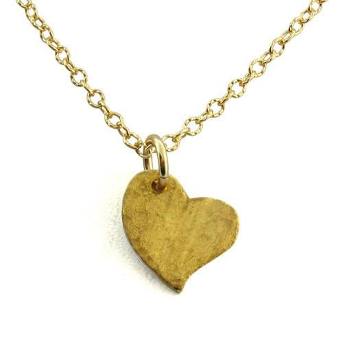 Gold Heart Charm - IsabelleGraceJewelry