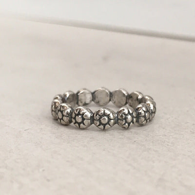 Gracie Stacker Band Silver - IsabelleGraceJewelry
