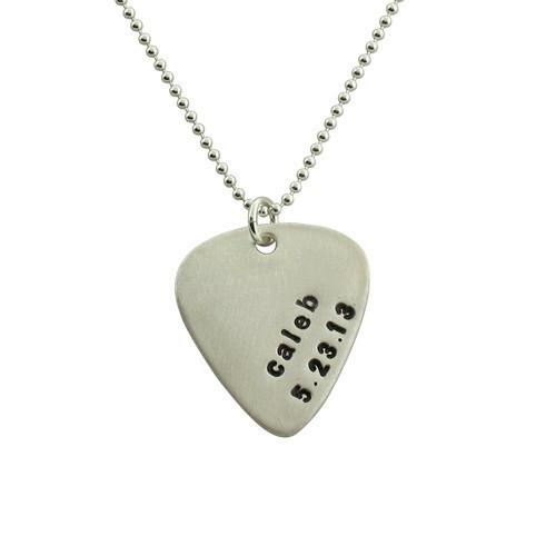 gothic jewelry music jewelry mens necklace goth chain, music charm mens chain Guitar pick necklace skeleton guitar pick charm