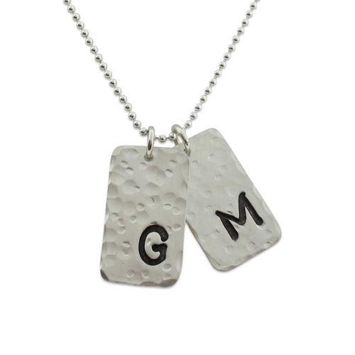 Hammered Tag Necklace - IsabelleGraceJewelry