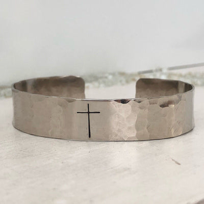 Have Faith Pebble Cuff - IsabelleGraceJewelry