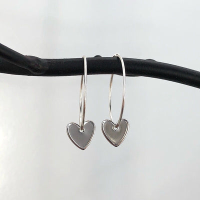 Heart Hoop Earrings - IsabelleGraceJewelry