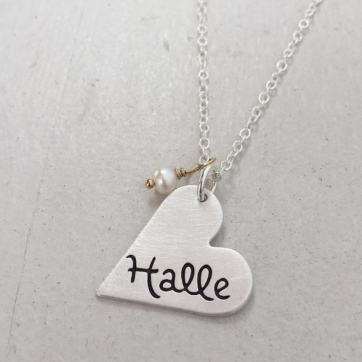 Heart Name Charm Necklace - IsabelleGraceJewelry
