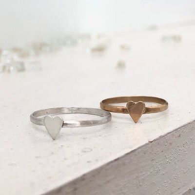 Heart Thin Stacking Ring - IsabelleGraceJewelry