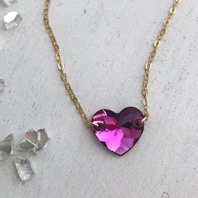 Hearts Alight Necklace - Fuchsia - IsabelleGraceJewelry