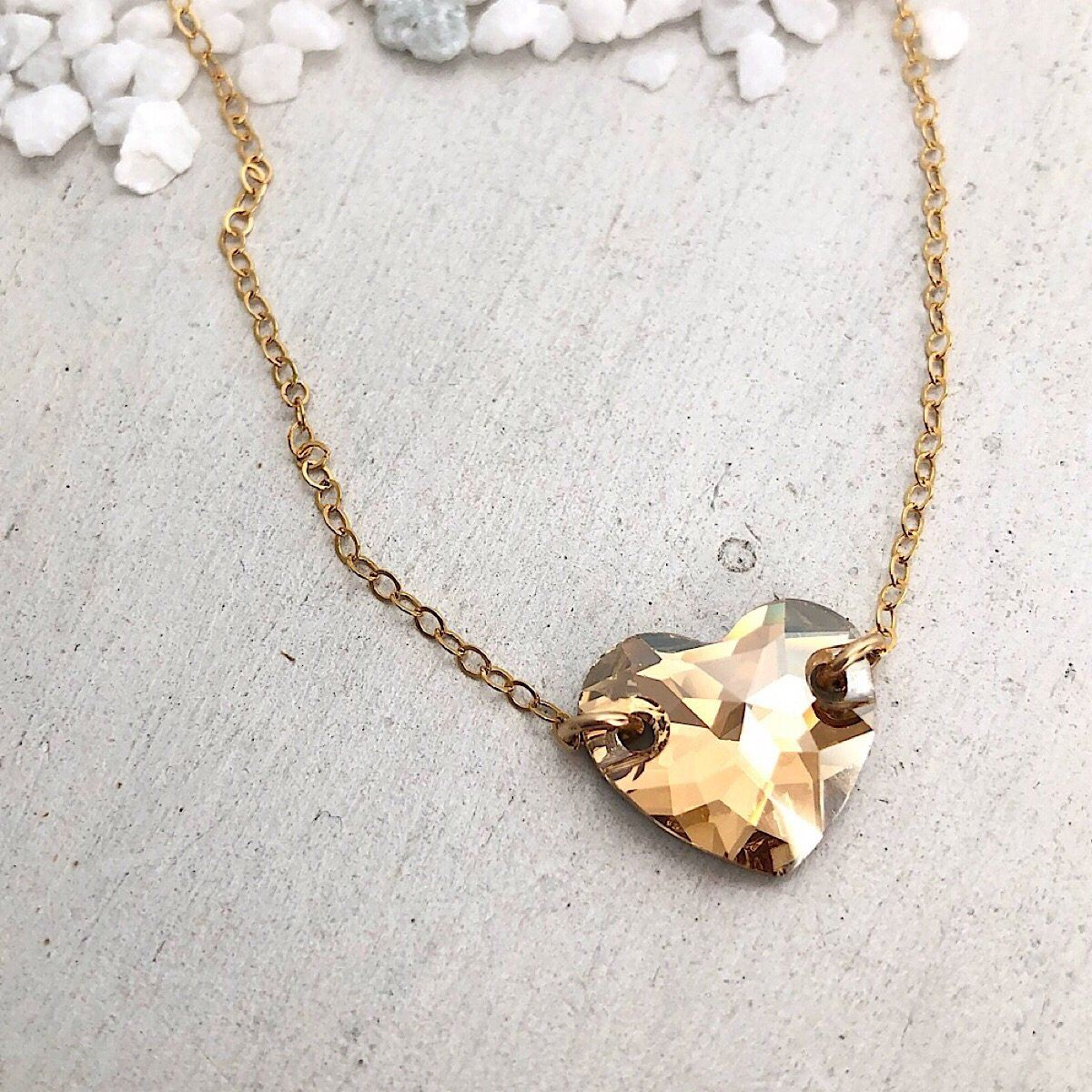 Hearts Alight Necklace - Golden Shadow - IsabelleGraceJewelry