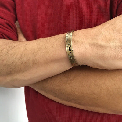 Hero Dad Thin Cuff - IsabelleGraceJewelry