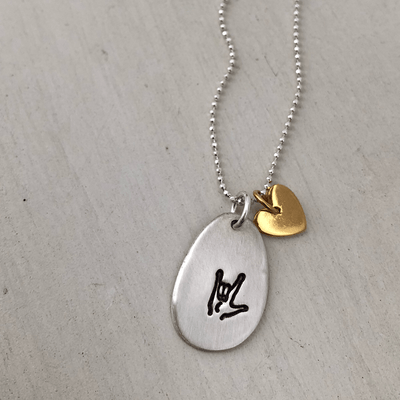 I Love You Pebble Necklace - IsabelleGraceJewelry