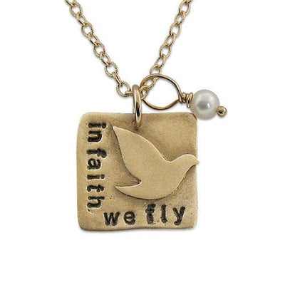 In Faith we Fly Necklace - IsabelleGraceJewelry